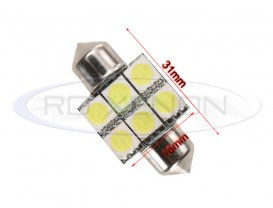 LED Festoon (Sofit) 31mm 6 SMD
