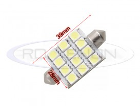 LED Festoon (Sofit) 39mm 12 SMD