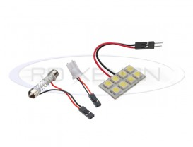 LED Festoon (Sofit), T10, Autoadaptabil 8 SMD