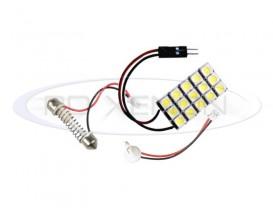 LED Festoon (Sofit), T10, Autoadaptabil 15 SMD