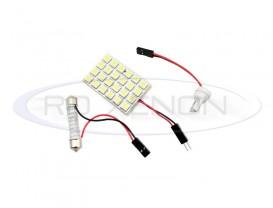 LED Festoon (Sofit), T10, Autoadaptabil 24 SMD