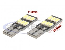 LED T10 (W5W) 6 SMD 5730 CANBUS Placuta