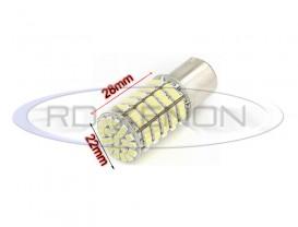 LED P21W (BA15S) 127 SMD Alb
