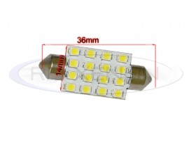 LED Festoon (Sofit) 36mm 16 SMD