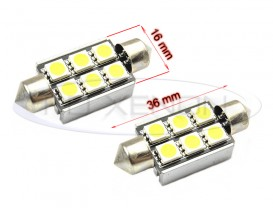 LED Festoon (Sofit) 36mm 6 SMD CANBUS