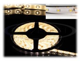 Banda 300 LED 3528 ALB CALD - 500 cm Impermeabila