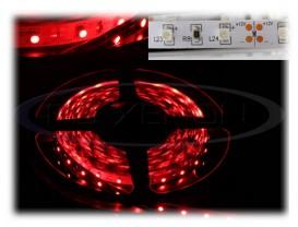 Banda 300 LED 3528 ROSU - 500 cm Impermeabila