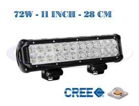 "Proiector Offroad LED CREE Drept 28cm - 11"" 72W - Combo Beam"