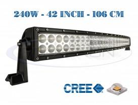 Proiector Offroad LED CREE Curbat 106cm 240W - Combo Beam